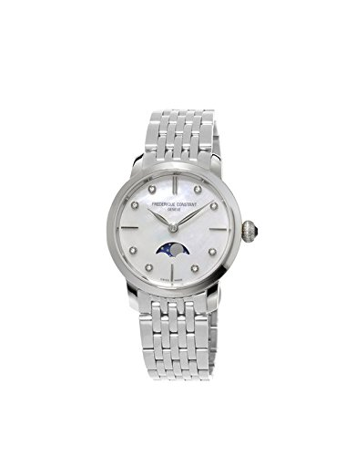 Frederique Constant Women's Analogue Quartz Watch with Stainless Steel Strap FC-206MPWD1S6B