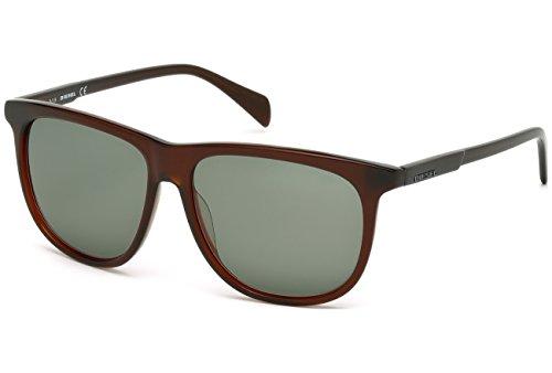 Occhiali da sole diesel dl0155 c56 48n (shiny dark brown / green)