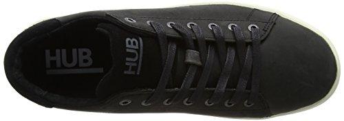 Hub Herren Twickenham L47 Sneaker Schwarz (Black/Off White)