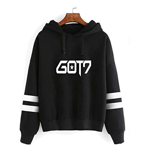 DJS Kpop GOT7 Harajuku Langärmelige Beiläufige Lose Hoodie GOT7 Fans Unterstützende Sweatshirt Rap Monster Bambam Jackson JB Mark ()