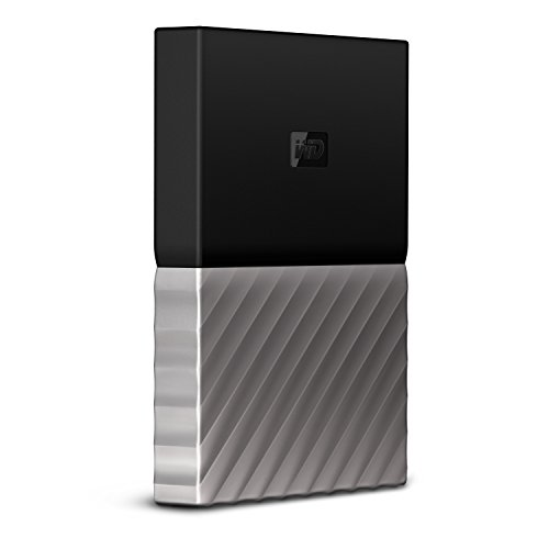 Preisvergleich Produktbild WD My Passport Ultra 2 TB,  mobile externe Festplatte (6, 4 cm / 2, 5 Zoll),  mit Kennwortschutz,  Metallic-Oberfläche schwarz / gunmetal metallic,  WDBFKT0020BGY-WESN