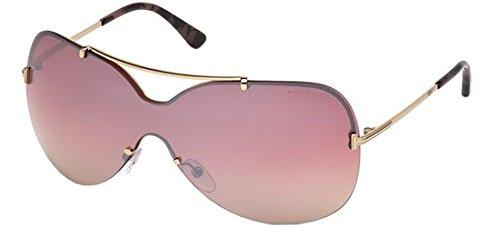 Tom Ford Unisex-Erwachsene FT0519 28Z 00 Sonnenbrille, Gold (Oro Rosa Lucido/Specchiato), 0