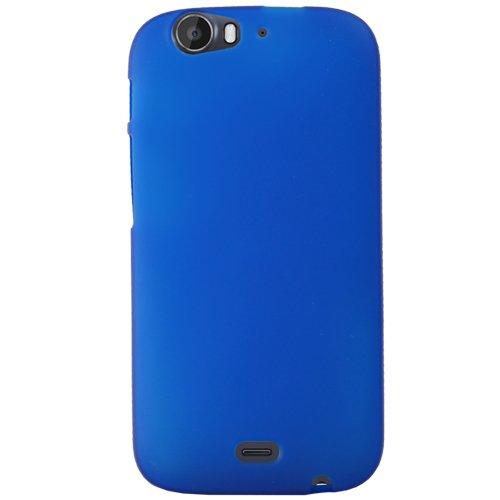 Mocca Design Gel Frost Schutzhülle aus Silikon für Wiko Darkfull, Blau