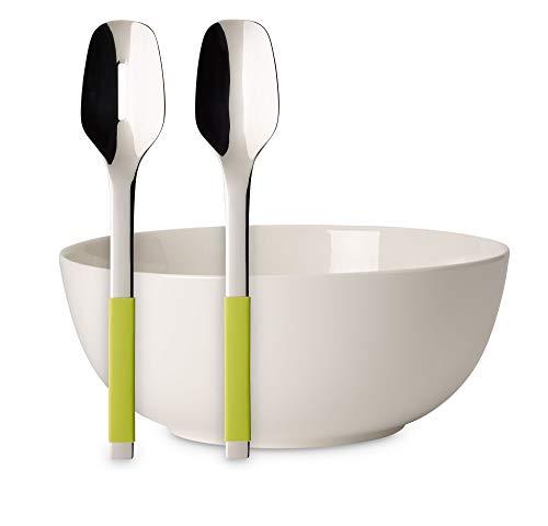 Villeroy & Boch For Me Set De Ensalada De 3 Piezas, Porcelana Premium, Blanco