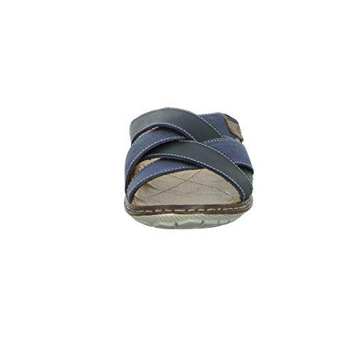 scarbello Y59-Y59-01 Herren Pantolette sportlicher Boden Blau (Blau)