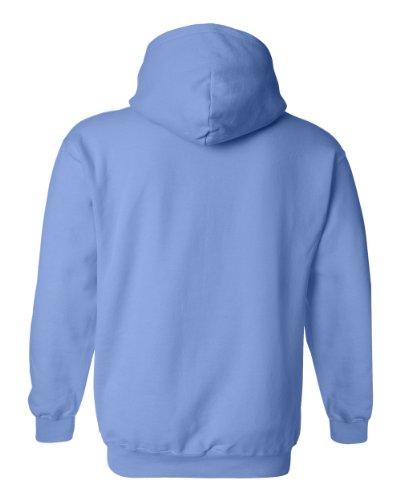 Gildan Gildan Adult 50/50 Cotton/Poly. Hooded Sweat-Felpa Uomo Blu Carolina