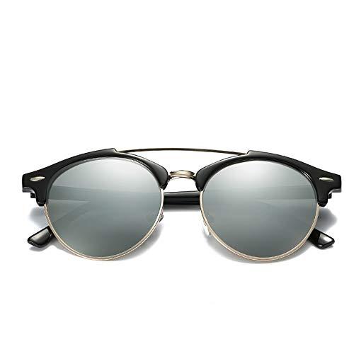 Sonnenbrille Ray Marke Luxus Designer Polarized Aviation Runde Sonnenbrille Männer Vintage Retro Brille Frauen Fahren Metall Brillen Schwarz Quecksilber