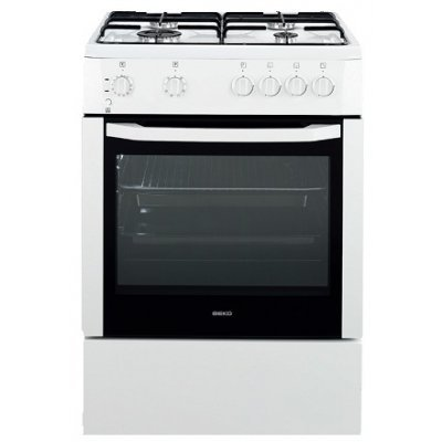 Beko CSG 62000 DW cooker - cookers (freestanding, Natural gas, Gas, A, White, Rotary)
