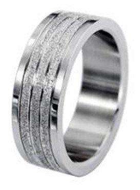Unbekannt Schmucktrendzone Edelstahlring, metallic, antiallergen, 7 mm, Nr. 90007263