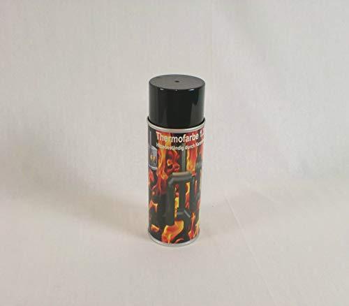 Ofenlack 1200°C Ofenspray Ofenfarbe Thermolack Schwarz matt 400ml (ad-ideen)