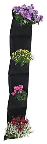 greemotion Sac à plantes mural 7 poches - Sac de plantation vertical - Jardinière design à suspendre - Mur végétal extérieur - Jardin mural souple en feutre résistant et écologiqu
