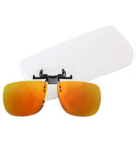 Brillen-Clip Sonnenbrille aufsteckbar Clip on Brillenaufsatz polarisierend verspiegelt + getönt Herren Damen - mth4 (cp05 - sun verspiegelt)