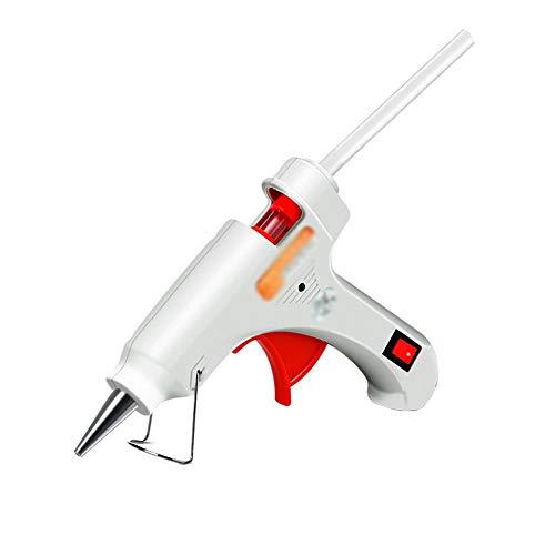 XF Hong Tai Yang Pistolet à Colle thermofusible avec bâtons de Colle 30/60 50 / 80W Dual Power Bricolage, Traitement Manuel, étanchéité et Entretien Rapide, Blanc //