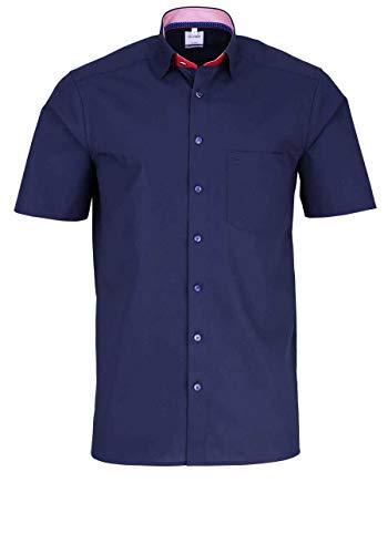 OLYMP Luxor Comfort fit Hemd Halbarm Under Button Down Kragen blau Größe 44