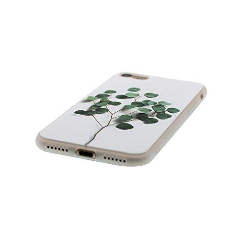 Custodia iPhone 7, Silicone trasparente iPhone 7 copertura Shell Protezione molle sottile del silicone TPU Cover Case Per iPhone 7 4.7 / tulipano fiore Color - 7