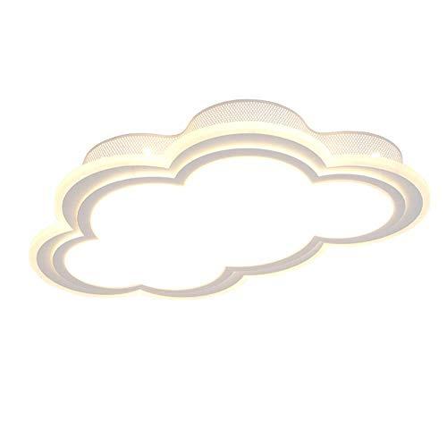 NYTYU Neue Reizende Sweety Cloud Kreative Deckenleuchte für Kinderzimmer Bunte Lampen Schlafzimmer Hauptbeleuchtung, 3000 karat-6500 Karat, 30 Watt / 42 Watt / 50 Watt, 55 cm / 65 cm / 80 cm (Farbe