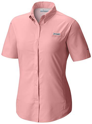Tamiami Angeln Shirt (Columbia Sportswear Damen Tamiami II Short Sleeve Shirt Medium Tiki Pink)