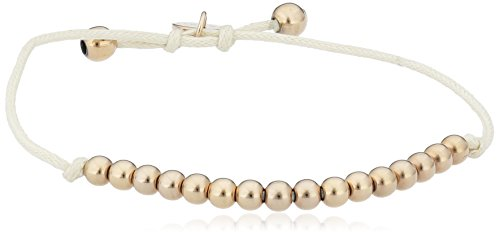 ESPRIT Damen Armband Vergoldet Leder ESBR11694B165 - Perlen-baumwoll-mischung