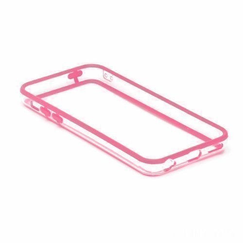 G4GADGET® Iphone 4S/4 Silicon Bumper White/Green Trasparente/Rosa