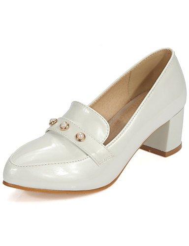 WSS 2016 Chaussures Femme-Décontracté / Soirée & Evénement-Bleu / Rose / Blanc / Beige-Gros Talon-Talons / Confort / Bout Pointu / Bout Fermé- blue-us5 / eu35 / uk3 / cn34