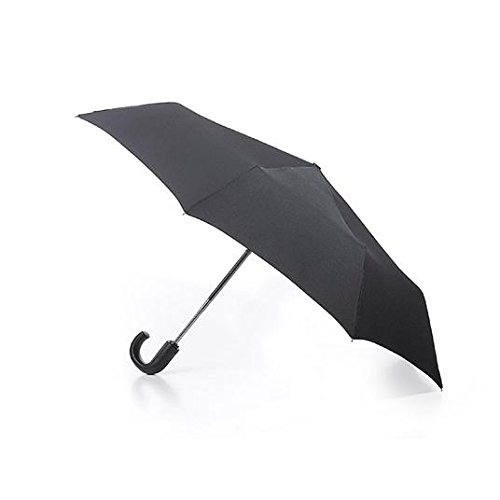 Fulton Fulton Open & Close 11 Black with Wooden Crook Handle Parapluie Pliant, 31 cm, 1 liters, Noir (Black)