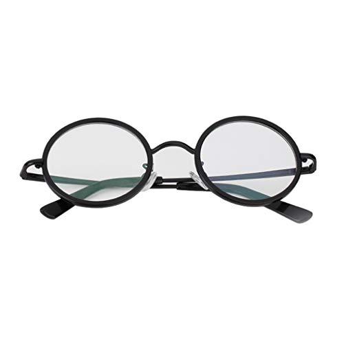 Axclg Reading glasses Unisex Vintage Oval Brillengestell, Lesebrille mit rundem Gestell (Schwarzgold, Schwarzsilber, Schwarzgrau, Schwarz) +0,5 bis 3,0