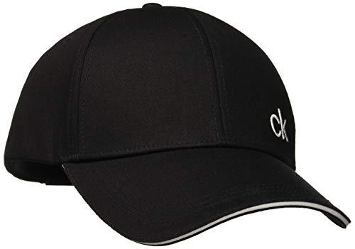 Calvin Klein Herren CONTRATS Edge Baseball Cap, Schwarz (Black 001), One Size (Herstellergröße: OS)