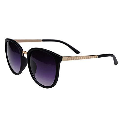ZRTYJ Sonnenbrille Runde Mode Brille Übergroße Sonnenbrille Frauen Frauen Brillen Big Günstige Shades Hd