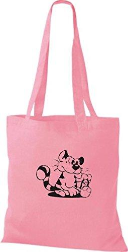 ShirtInStyle Stoffbeutel Katze Motive Rasse Katze Lustige Tiere Züchter Cat diverse Farbe classic pink