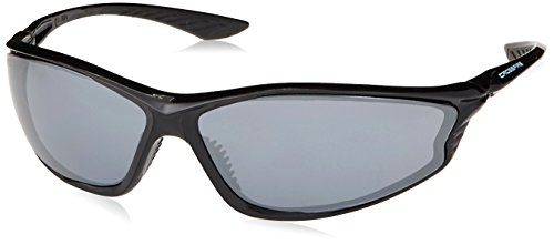 acad1e6450 Crossfire 3463 KP6 Safety Glasses Silver Mirror Lens - Shiny Black Frame by  Crossfire