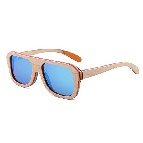 Lbyhning Bambus-Sonnenbrille Baby Men and Women, Outdoor-Brille, UV400 polarisierte Sonnenbrille, UV-beständig, strahlungsfest