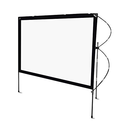 Tragbarer Projector Screen Outdoor Faltbar, NIERBO Beamer Leinwand Keine Falten Beamerleinwand 16:9 80 Zoll Projektion Leinwand für Biwak und im Freien