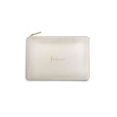 Katie Loxton - Perfect Pouch - Bridesmaid - Metallic White