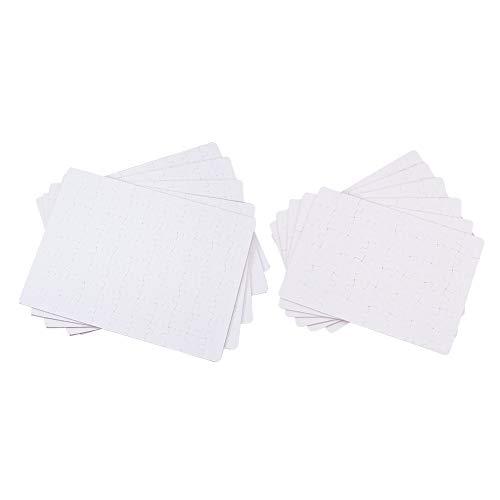 WANDIC Leere DIY Custom Puzzle, 12 Stück weiß blanko Poster Puzzle für Wärmepresse Sublimation Machen Sie Ihre eigenen Puzzles