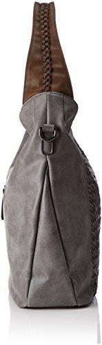 Sansibar Damen Pouch Schultertasche, 12x30x37 cm Grau (Asphalt)