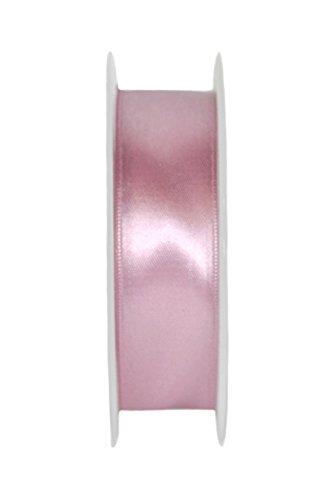 Idea casa 2 bobine rotoli nastro doppio raso 10 mm 60 yds 54 metri ribbon satin bomboniere (rosa antico)