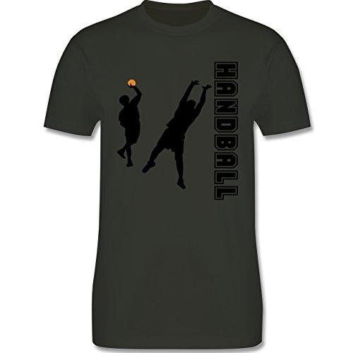 Handball - Handball Wurf Verteidigung - Herren Premium T-Shirt Army Grün