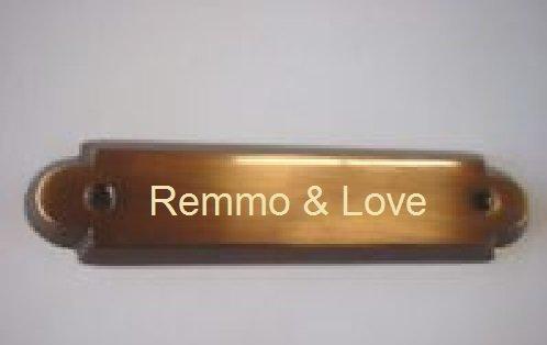 Remmo&Love Delux Türschild Namensschild Zimmerschild Luxus Tür Schild Messing mit individueller...