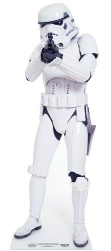 aus Pappe Stormtrooper - Star Wars in Lebensgröße 183 cm ()