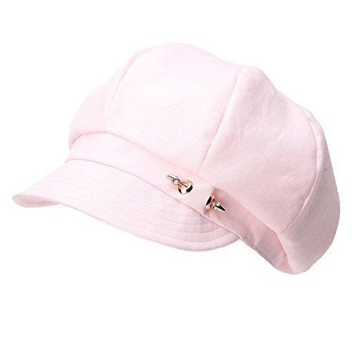 SIGGI Damen 8-Panel Schirmmütze Cabbie Maler Mütze 56-59CM Rosa