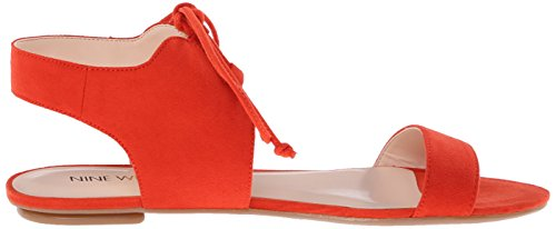 Nine West Jadlin Sandales plates en cuir Red/Orange