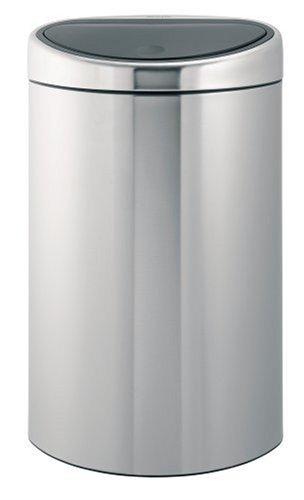 Touch Bin 40 L mit Kunststoffeinsatz / Matt Steel 40-liter Touch Bin