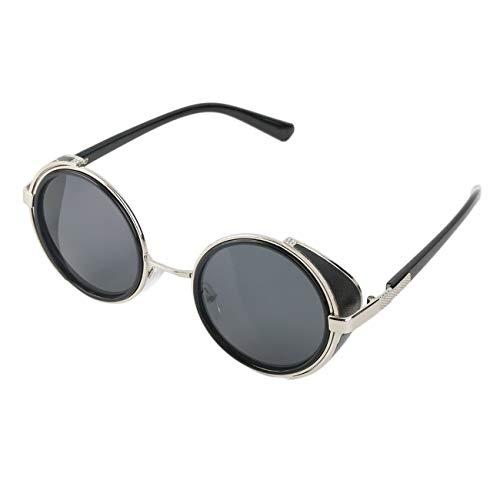 Elviray Radfahren Sonnenbrille Runde Brille Cyber   Fahrradbrille Vintage Retro Style Blinder ABS Kunststoff und Metalllegierung Rahmen