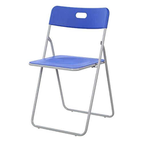 Ändern Seiner Schuhe Hocker Falten Kunststoff gepolstert Büro Rezeption Schreibtisch Stühle Klappstuhl Easy Storage Rückenlehne One Step Klappstühle (Farbe: Blau) -