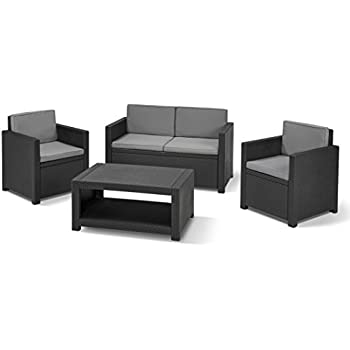 Amazon.de: Allibert 206459 Lounge Set Monaco (2 Sessel, 1 Sofa, 1 ...
