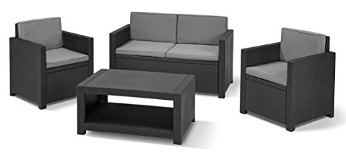 Allibert Lounge-Set Monaco 4tlg, graphit/cool grey -