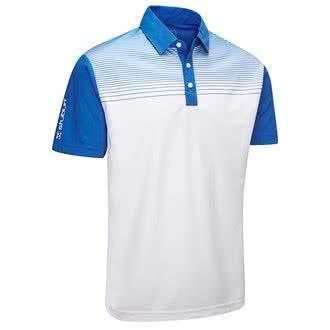 46d60553b4a0 Stuburt Herren Endurance Faded Stripe Polo Shirt L Königsblau
