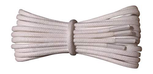 Fabmania 2 mm redondo blanco encerado algodón cordones-90 cm de longitud-cordones finos para zapatos de vestir y botas.