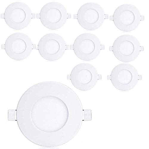 YESDA 10xPlafon Techo LED Downlight focos led empotrables Panel led Blanco Cálido...
