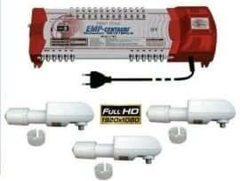 ProfiLine EMP Multi-Schalter 5 / 12 MS PIU V10-6 + 3 x Venton Rocket EXL-Q / Quattro LNB 0.1 db, Hd-Ready